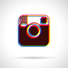 Hipster camera icon.