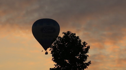 Balloons into the sky in the morning.