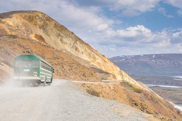 Shuttle bus at Denali national park, Alaska