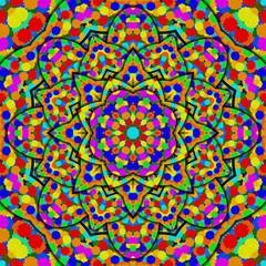 Colors kaleidoscope for children