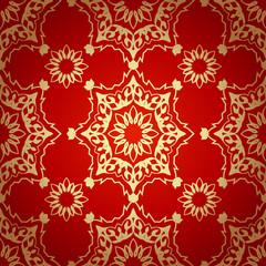 Decorative  seamless pattern in ottoman motif