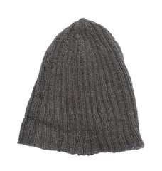 Black knitted head cap isolated