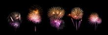 """Постер, картина, фотообои """"beautiful fireworks over sky"""""""