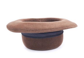 Brown female hat isolated