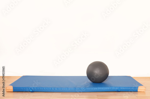 canvas print picture Medizinball auf Turnmatte