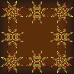 Abstract Arabic Stars Background