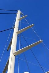 Gréement d'un grand yacht à voiles