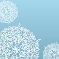 Background With Fragile Lacy Patterns