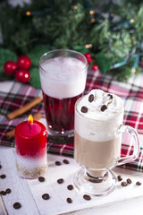 Christmas Coffee with Whipped Cream