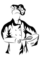 chef holding a bowl