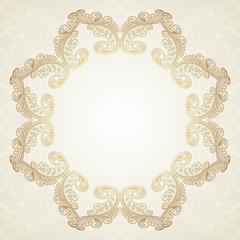 Vintage Floral Frame.Vector illustration