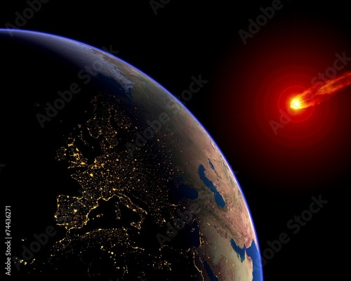 Meteor Asteroid Europe Earth - 74436271