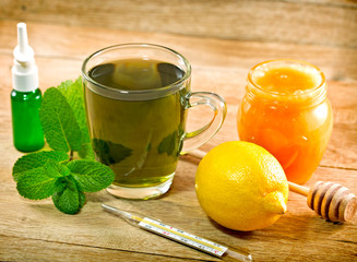 Mint tea -  healthy drink in winter