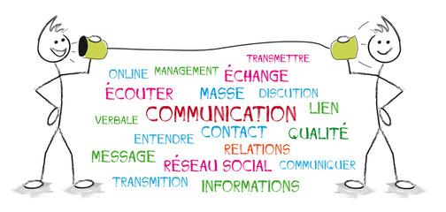 personnages nuage de mot communication
