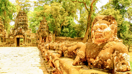 Guardians in Angkor Wat