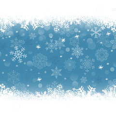 set of snowflakes for background, vector version