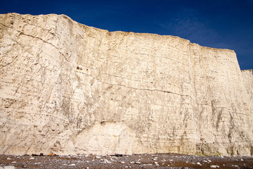 Structure of Seven sisters chalkcliffs on England south coast.