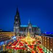 canvas print picture - Kölner Weihnachtsmarkt