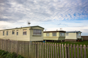 Fxed holiday homes, caravans, in winter
