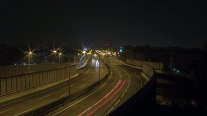 A23 bei Nacht