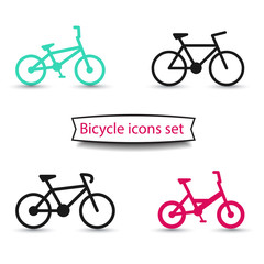 bicycle icons set vector illustration, eps10
