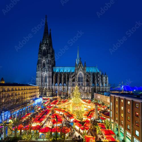 canvas print picture Kölner Weihnachtsmarkt