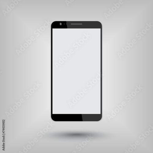 big smartphone mockup vector illustration, eps10 - 74438482