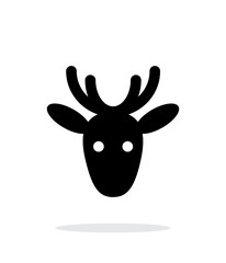 Christmas deer icon on white background.