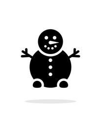 Snowman icon on white background.