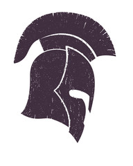 spartan helmet vector illustration, eps10, easy to edit