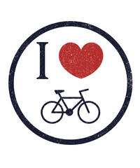I love bike vector illustration, eps10, easy to edit
