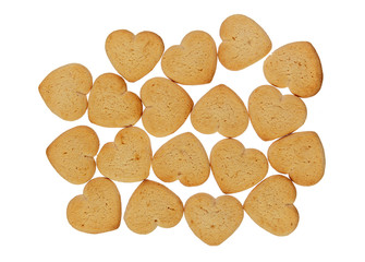 Heart shaped cookies pile