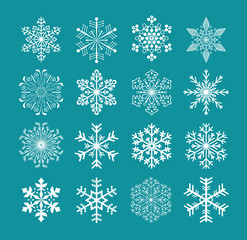 set of snowflakes, vector version