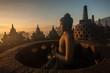 Leinwanddruck Bild - Borobudur Temple