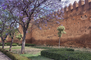 Walls of the old town Medina in Rabat, Morocco