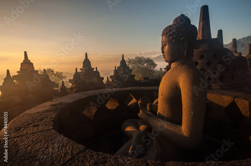 Foto op Canvas Indonesië Borobudur Temple