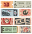 Retro Tickets and Coupons Collection