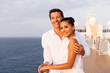 Leinwanddruck Bild - young couple at sunset on a cruise