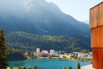 St. Moritz lake, Switzerland.