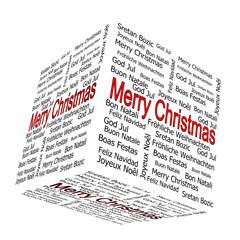 Merry Christmas wordcloud