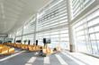 modern airport waiting hall interior - 74441693