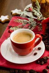 Espresso for breakfast Christmas