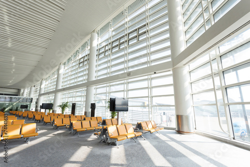 Foto op Canvas Luchthaven modern airport waiting hall interior