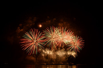 Colorful spectacular fireworks