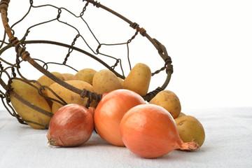 cipolle e patate crude