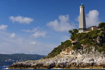 Leuchtturm am Cap Ferrat an der Cote d`azur