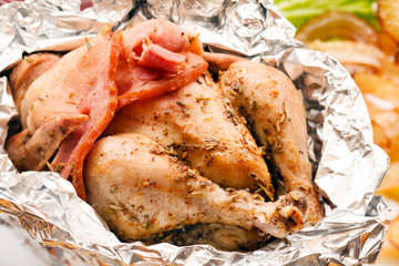 Roasted Chicken in the foil