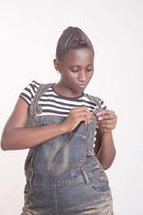 jeune femme de mode