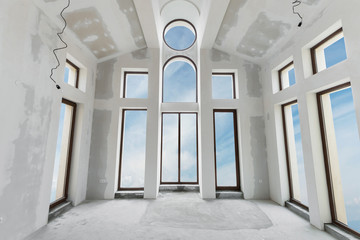 Unfinished building interior  (includes clipping path)