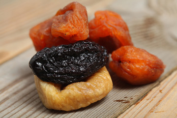 dried figs dried apricots and prunes